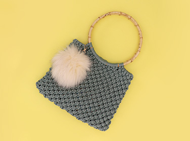 Fur Pom Poms Accessories & Handbags